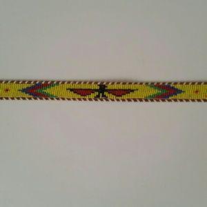 Beaded belt Western style belt